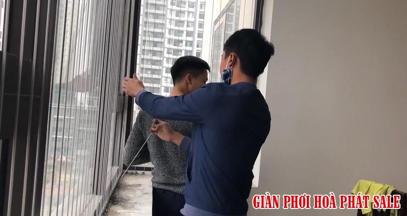 Lắp lưới an toàn cửa sổ chung cư - Ảnh thực tế
