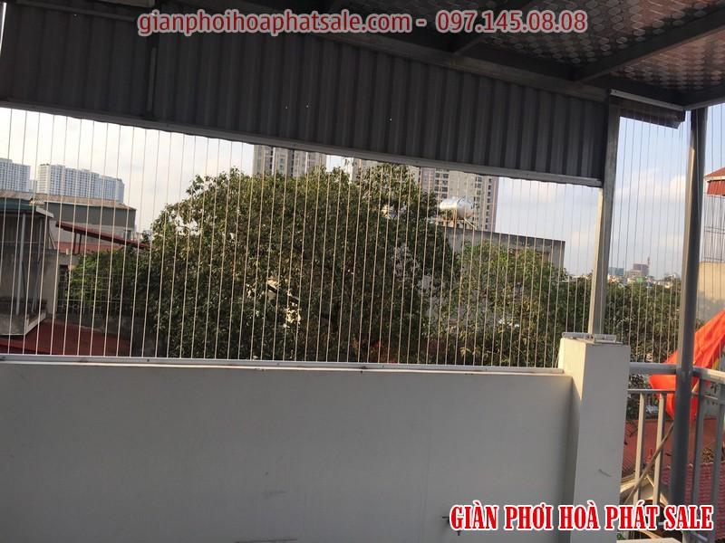 Lưới an toàn được lắp tại những vị trí trống, không có rào chắn ở chung cư, nhà phố