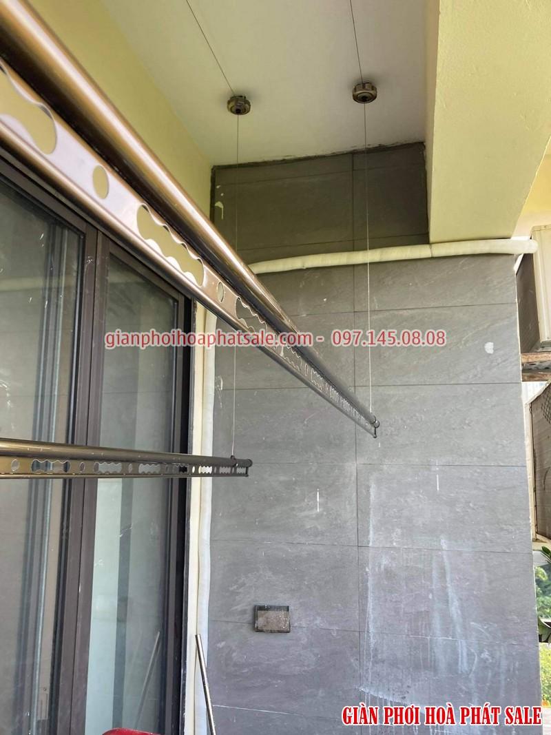 Hình ảnh giàn phơi Hòa Phát HP300 lắp tại chung cư Bắc Linh Đàm nhà chị Nhung